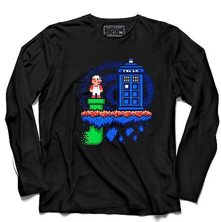 Camiseta Manga Longa Warp Zone - Loja Nerd e Geek - Presentes Criativos