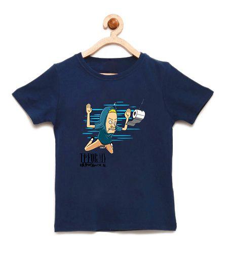 Camiseta Infantil Beavis Nevermind - Loja Nerd e Geek - Presentes Criativos