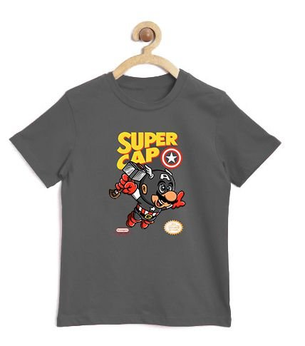 Camiseta Infantil Super Cap - Loja Nerd e Geek - Presentes Criativos