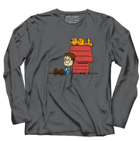 Camiseta Manga Longa Garfield - Loja Nerd e Geek - Presentes Criativos