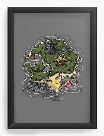Quadro Decorativo A4 (33X24) King Kong - Loja Nerd e Geek - Presentes Criativos