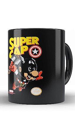 Caneca Super Cap - Loja Nerd e Geek - Presentes Criativos