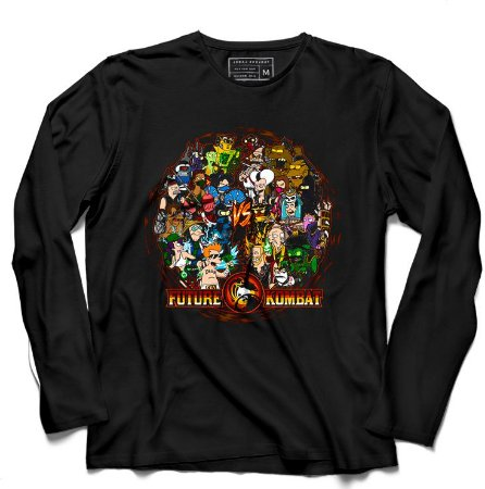 Camiseta Manga Longa Future Kombat - Loja Nerd e Geek - Presentes Criativos