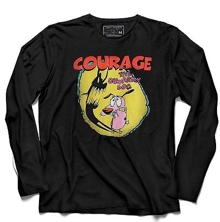 Camiseta Manga Longa Courage - Loja Nerd e Geek - Presentes Criativos