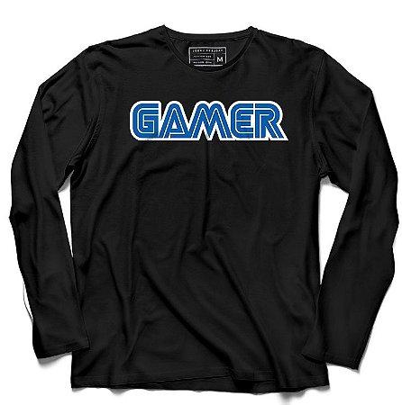 Camiseta Manga Longa Gamer - Loja Nerd e Geek - Presentes Criativos