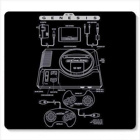 Mouse Pad Mega Drive - Loja Nerd e Geek - Presentes Criativos