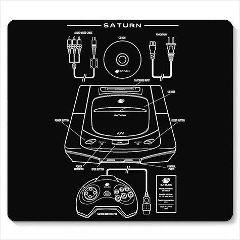 Mouse Pad Saturn - Loja Nerd e Geek - Presentes Criativos