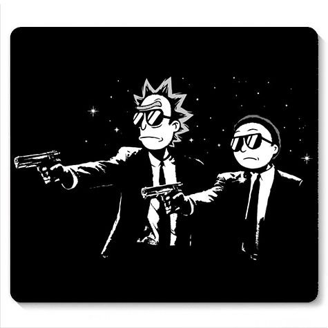 Mouse Pad Rick Fiction- Loja Nerd e Geek - Presentes Criativos