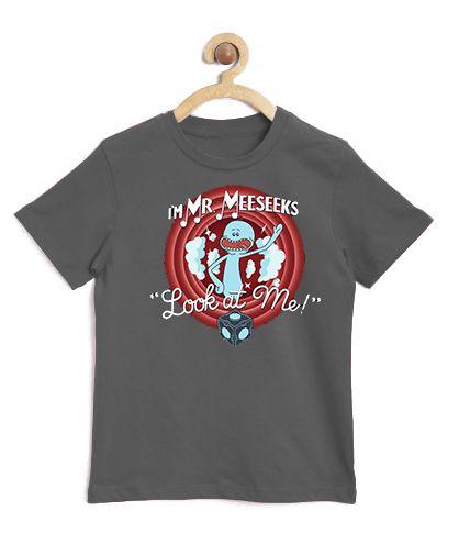 Camiseta Infantil Meeseeks - Loja Nerd e Geek - Presentes Criativos
