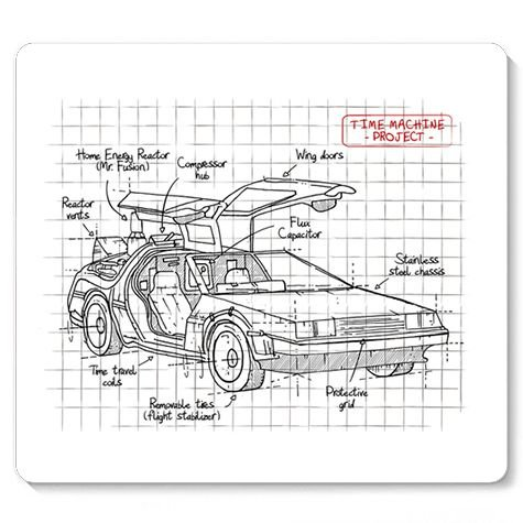 Mouse Pad Carro do Futuro - Loja Nerd e Geek - Presentes Criativos