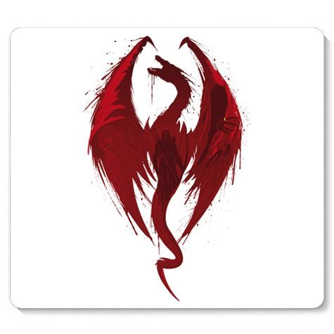 Mouse Pad Red Dragon - Loja Nerd e Geek - Presentes Criativos
