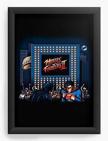 Quadro Decorativo A4 (33X24) Street Heroes - Loja Nerd e Geek - Presentes Criativos