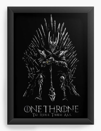 Quadro Decorativo A4 (33X24) Throne - Loja Nerd e Geek - Presentes Criativos