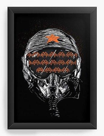 Quadro Decorativo A4 (33X24) Helmet - Loja Nerd e Geek - Presentes Criativos