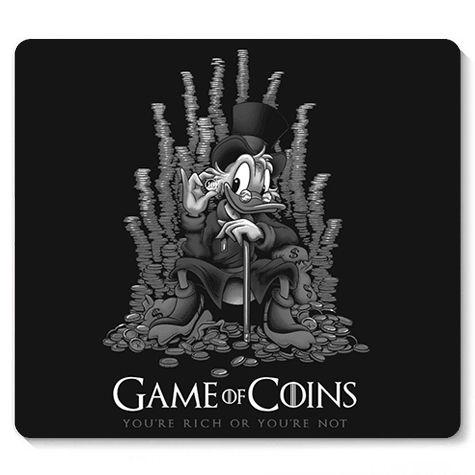 Mouse Pad Coins - Loja Nerd e Geek - Presentes Criativos