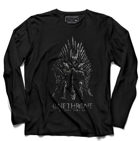 Camiseta Manga Longa Throne - Loja Nerd e Geek - Presentes Criativos