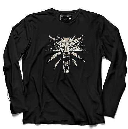 Camiseta Manga Longa Witcher - Loja Nerd e Geek - Presentes Criativos