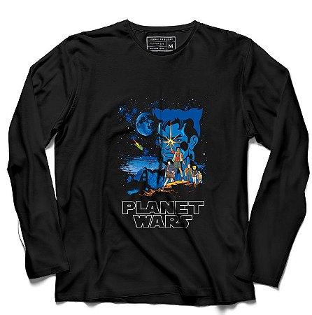 Camiseta Manga Longa Capitao Planeta - Loja Nerd e Geek - Presentes Criativos
