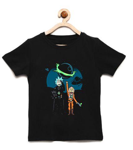 Camiseta Infantil Space Rick and Morty - Loja Nerd e Geek - Presentes Criativos