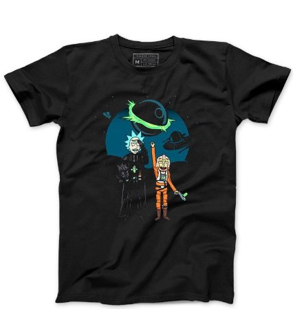 Camiseta Masculina Space Rick and Morty - Loja Nerd e Geek - Presentes Criativos