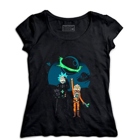 Camiseta Feminina Space Rick and Morty - Loja Nerd e Geek - Presentes Criativos
