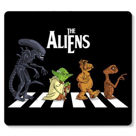 Mouse Pad Aliens  - Loja Nerd e Geek - Presentes Criativos