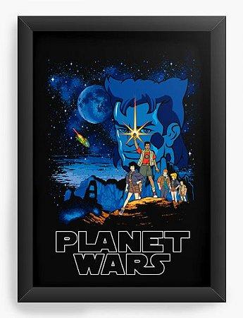 Quadro Decorativo A4 (33X24) Capitao Planeta - Loja Nerd e Geek - Presentes Criativos