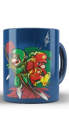 Caneca Mario e Luigi Flash