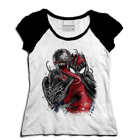 Camiseta Feminina Raglan Aracnídeo - Loja Nerd e Geek