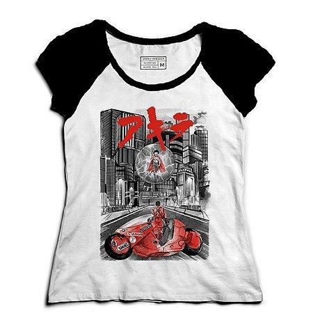 Camiseta Feminina Raglan Akira - Loja Nerd e Geek