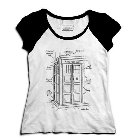 Camiseta Feminina Raglan Doctor Who - Loja Nerd e Geek