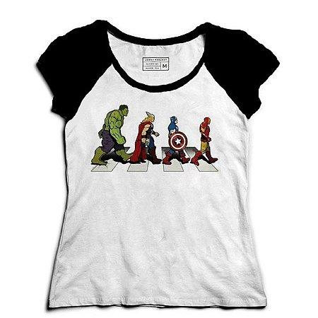 Camiseta Feminina Raglan The Avengers - Loja Nerd e Geek