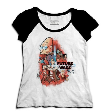Camiseta Feminina Raglan Space wars Future - Loja Nerd e Geek