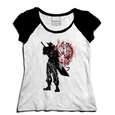 Camiseta Feminina Raglan Ex Soldado - Loja Nerd e Geek