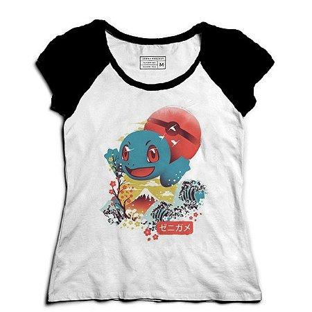 Camiseta Feminina Raglan Lets Go - Loja Nerd e Geek