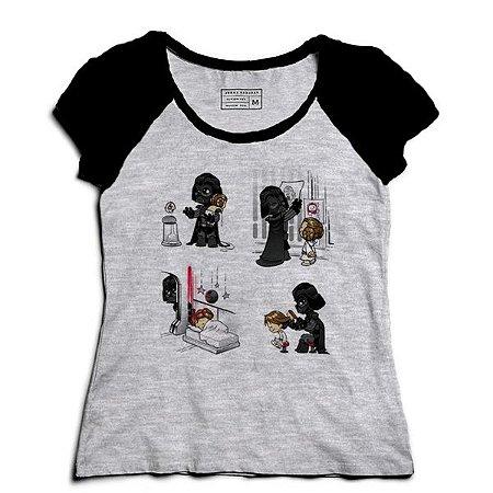 Camiseta Feminina Raglan Mescla Dark Daddy - Loja Nerd e Geek