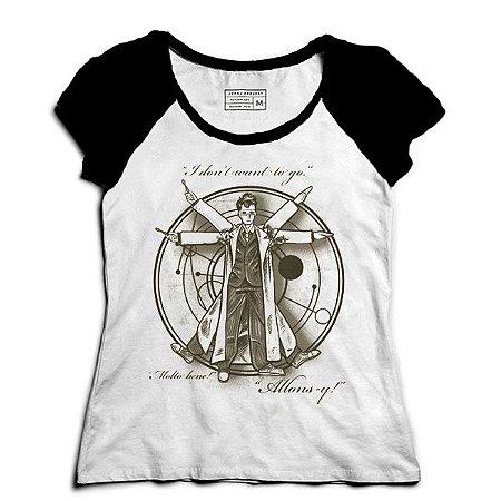 Camiseta Feminina Raglan Homem Espaço - Loja Nerd e Geek