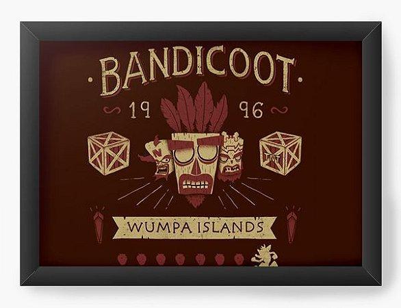 Quadro Decorativo A3 (45X33) Geekz Bandicoot 96 - Loja Nerd e Geek - Presentes Criativos