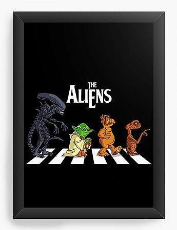 Quadro Decorativo A3 (45X33) Aliens- Loja Nerd e Geek - Presentes Criativos