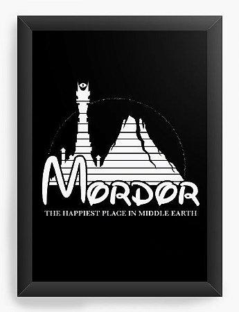 Quadro Decorativo A3 (45X33) Mordor - Loja Nerd e Geek - Presentes Criativos
