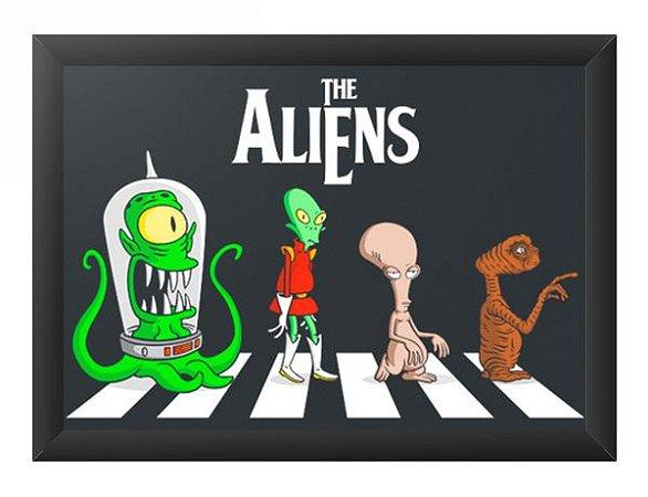Quadro Decorativo A4 (33X24) Aliens - Loja Nerd e Geek - Presentes Criativos