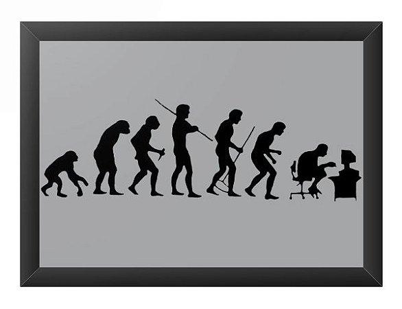 Quadro Decorativo A3 (45X33) Evolution - Loja Nerd e Geek - Presentes Criativos