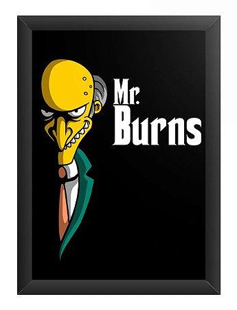 Quadro Decorativo A3 (45X33) Mr Burns - Loja Nerd e Geek - Presentes Criativos