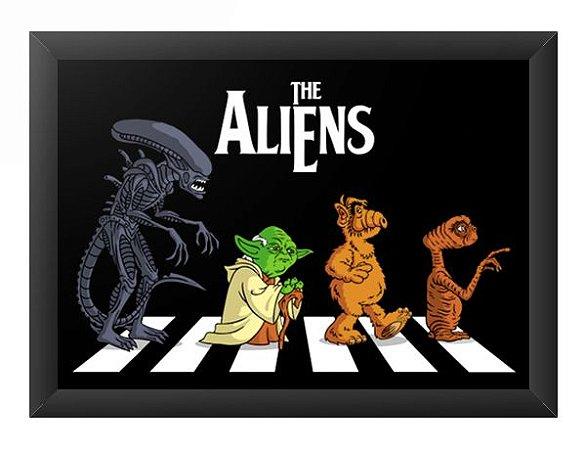 Quadro Decorativo A4 (33X24) The Aliens - Loja Nerd e Geek - Presentes Criativos