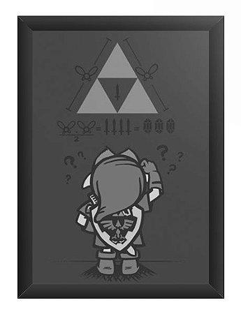 Quadro Decorativo A4 (33X24) Triforce - Loja Nerd e Geek - Presentes Criativos