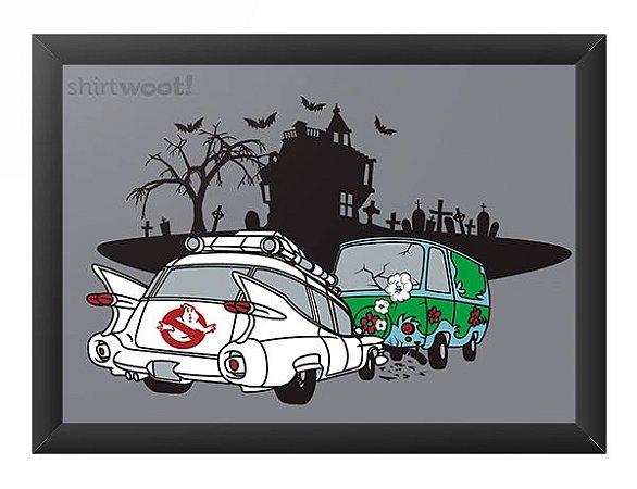 Quadro Decorativo A4 (33X24) Fantasma - Loja Nerd e Geek - Presentes Criativos