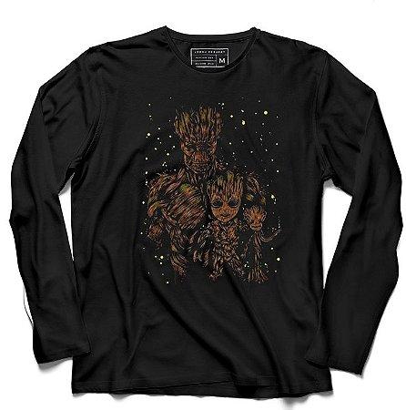 Camiseta Manga Longa Groot - Loja Nerd e Geek - Presentes Criativos