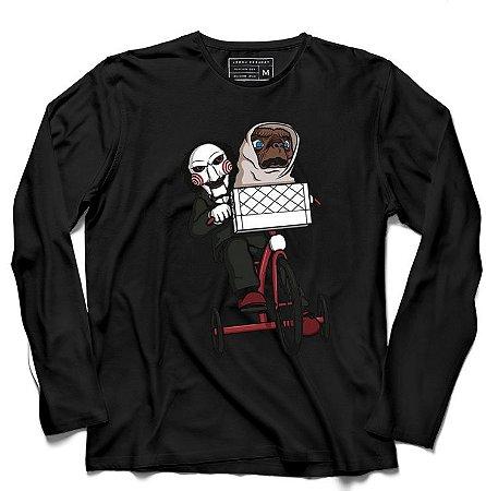 Camiseta Manga Longa Jogos Mortais ET - Loja Nerd e Geek - Presentes Criativos