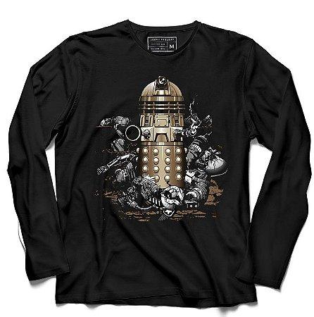 Camiseta Manga Longa Doctor Who - Machine - Loja Nerd e Geek - Presentes Criativos