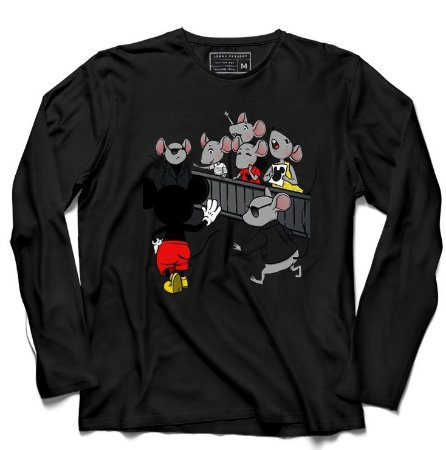 Camiseta Manga Longa Mickey Mouse - Loja Nerd e Geek - Presentes Criativos